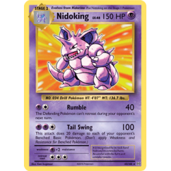 Nidoking (Mewtwo Mayhem or Evolutions Prerelease Deck)