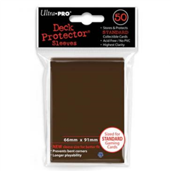 Ultra Pro Solid Standard Deck Protector - Brown