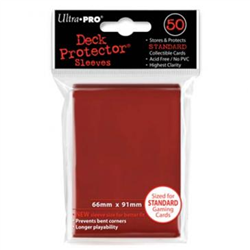Ultra Pro Solid Standard Deck Protector - Red